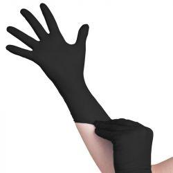 Jednorázové nitrilové rukavice černé - velikost XL (AS)