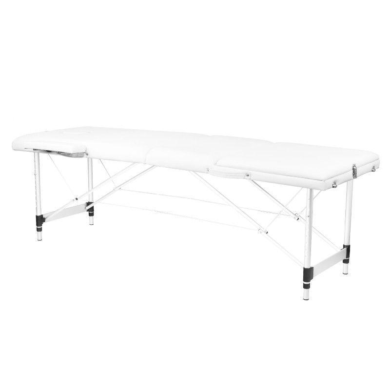 Skládací masážní stůl KOMFORT 3 - bílý