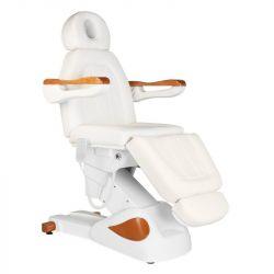 Elektrické kosmetické křeslo ECLIPSE - 3 silné motory - bílé