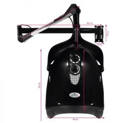 Závěsná vysoušecí helma GABBIANO DX-201W - černá