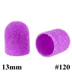 Brusné kloboučky 13 mm/120 - fialové (1 ks)