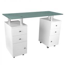 Kosmetický stolek GLASS 317 bílý