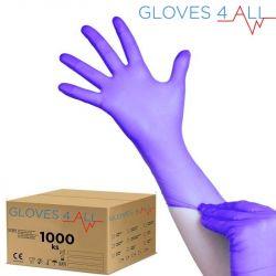 Jednorázové nitrilové rukavice modro-fialové L - karton 10ks (VP)
