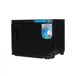 Ohřívač ručníků s UV-C sterilizátorem 23 l - černý